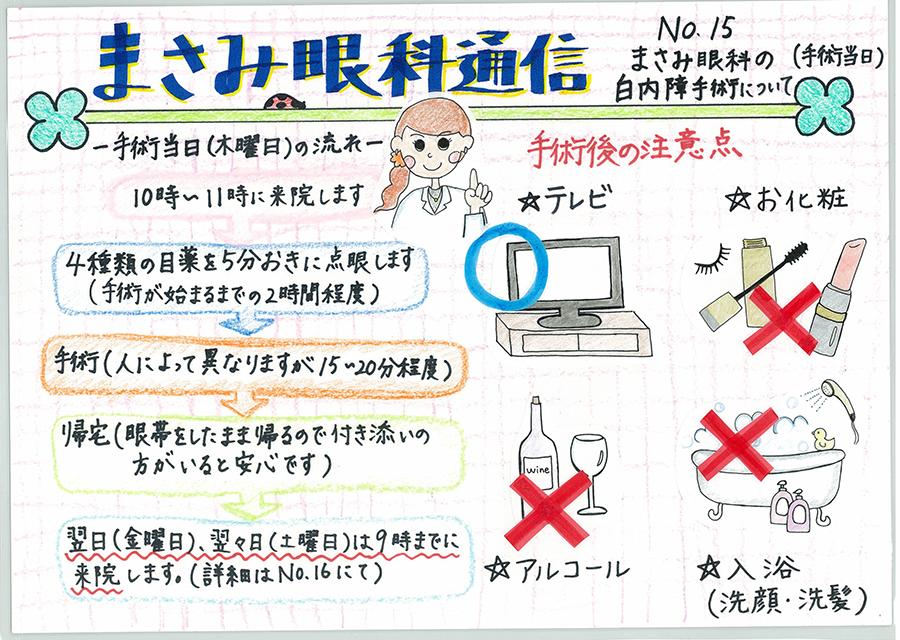 No.15 まさみ眼科の白内障手術について